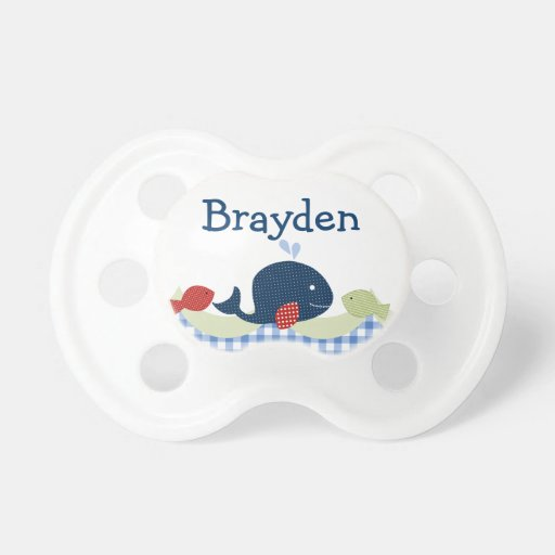 "Personalized ""Jackson Whale/Sealife"" Pacifier"