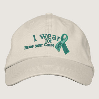 Personalized Jade Hope Ribbon Awareness Your Text Embroidered Baseball Hat