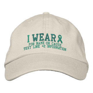 Personalized Jade Ribbon Awareness Embroidery Embroidered Baseball Hat