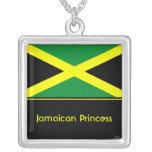 Personalized Jamaican Flag Pendant, Jamaica