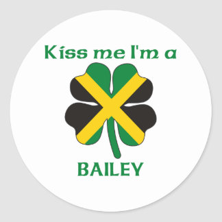 Personalized Jamaican Kiss Me I'm Bailey Classic Round Sticker