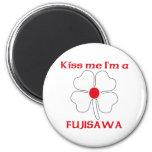 Personalized Japanese Kiss Me I'm Fujisawa Refrigerator Magnet