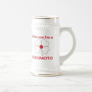 Personalized Japanese Kiss Me I'm Fukumoto 18 Oz Beer Stein