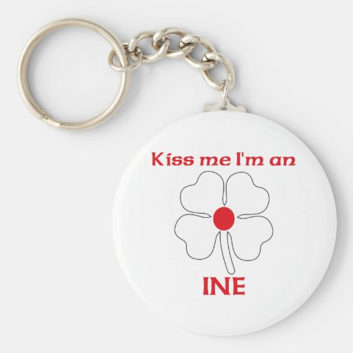 Personalized Japanese Kiss Me I'm Ine Key Chain