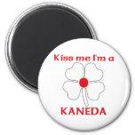 Personalized Japanese Kiss Me I'm Kaneda Refrigerator Magnets