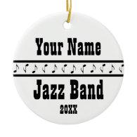 Personalized Jazz Band Music Ornament Keepsake
