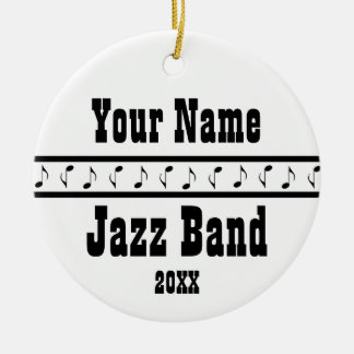 Personalized Jazz Band Music Ornament Keepsake