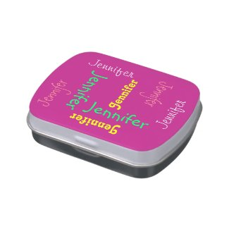 Personalized Jelly Belly Candy Tin Party Favor