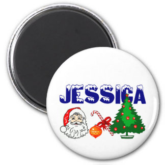 Personalized Jessica Christmas Magnet
