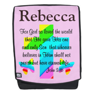 PERSONALIZED JOHN 3:16 BACKPACK