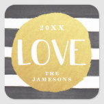 Personalized Joyous Stripes Stickers / LOVE