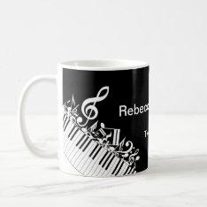 Personalized Jumbled Musical Notes And Piano Keys Coffee Mug at Zazzle