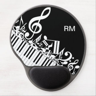 Personalized Jumbled Musical Notes and Piano Keys Gel Mouse Pads
