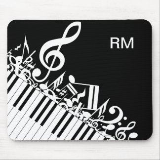 Personalized Jumbled Musical Notes and Piano Keys Mouse Pad