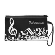 Personalized Jumbled Musical Notes Wristlets