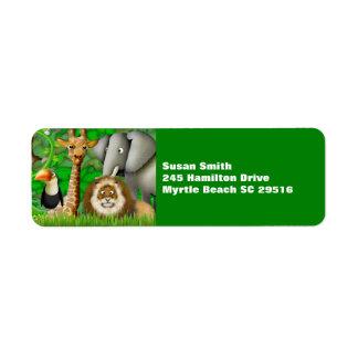 Personalized Jungle  Address  Labels