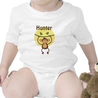Personalized Jungle Baby Monkey Shirt Baby Creeper
