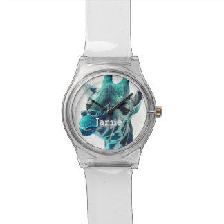Personalized Jungle Creatures Giraffe Wristwatch