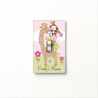 Personalized Jungle Girl Animal Stack Switch Plate