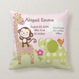 Personalized Jungle Girl/Jill Pillow Keepsake