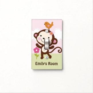 Personalized Jungle Girl Monkey Switch Plate