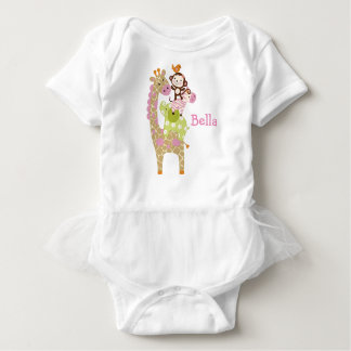 Personalized Jungle Jill/Girl Animals Baby Shirt