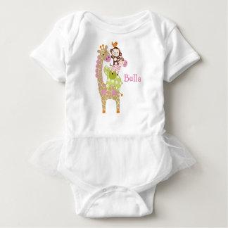 Personalized Jungle Jill/Girl Animals Baby Shirt