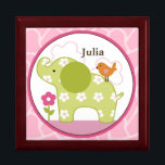 """Personalized Jungle Jill/Girl Animals Keepsake Box<br><div class=""""desc"""">Personalized &quot;Jungle Jill/Girl Animals&quot; Baby Keepsake Box. You&#39;re little one can keep his or her treasures in this adorable keepsake box.</div>"""