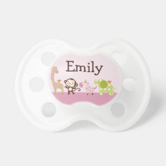 "Personalized ""Jungle Jill/Girl Animals"" Pacifier"