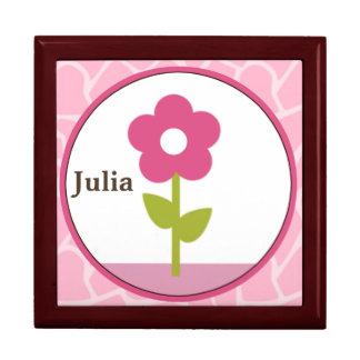 Personalized Jungle Jill/Girl Flower Keepsake Box