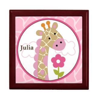 Personalized Jungle Jill/Girl Giraffe Keepsake Box