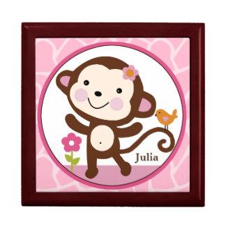 Personalized Jungle Jill/Girl Monkey Keepsake Box
