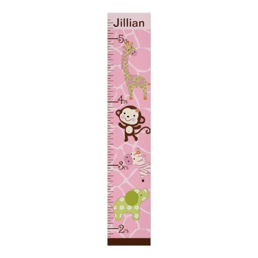 Personalized Jungle Jill Growth Chart #2 Poster