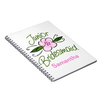 Personalized Junior Bridesmaid Note Books