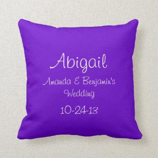 Personalized Junior Bridesmaid Throw Pillow
