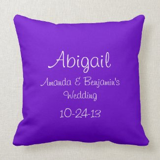 Personalized Junior Bridesmaid Throw Pillows