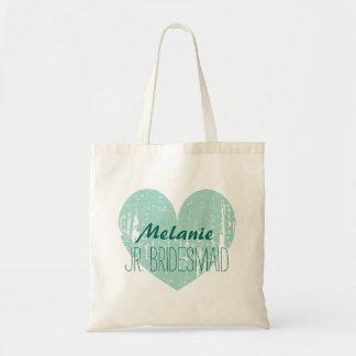 Personalized junior bridesmaid tote bag for girl