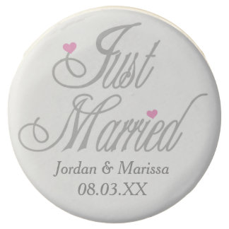 Personalized Just Married Dipped Oreos Chocolate Dipped Oreo