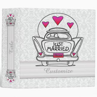 Personalized Just Married Honeymoon Car Binder