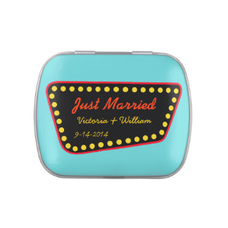 Personalized Just Married Sign Tin