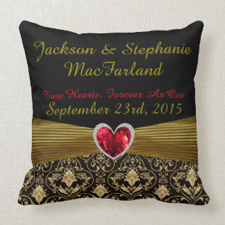 Personalized Just Married Wedding Gift Pillow