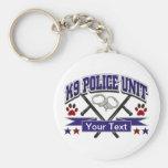 Personalized K9 Police Unit Basic Round Button Keychain