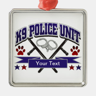 Personalized K9 Police Unit Christmas Tree Ornament