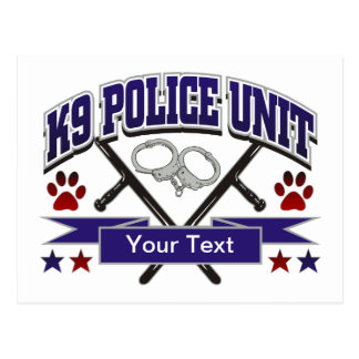 Personalized K9 Police Unit Postcard