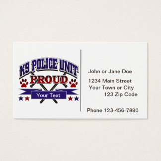 Personalized K9 Unit Proud Business Card