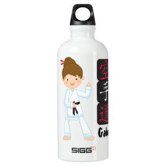 Personalized Karate Girl SIGG Traveler 0.6L Water Bottle