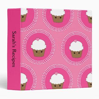 Personalized Kawaii Cupcake Recipe Binder - Medium