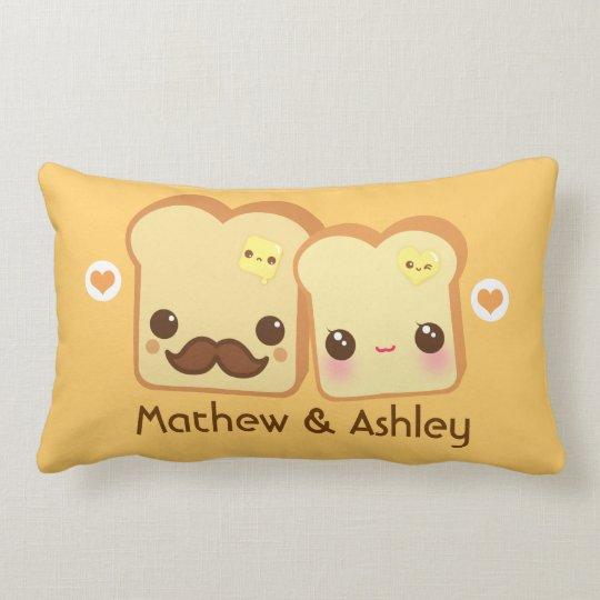 Personalized - Kawaii cute toasts couple Lumbar Pillow