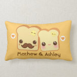 Personalized - Kawaii cute toasts couple Pillow