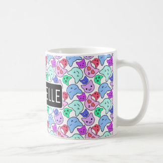 Personalized Kawaii Kitty Coffee Mug